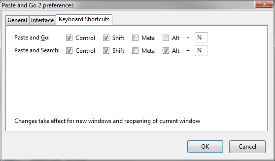Keyboard Shortcut Settings